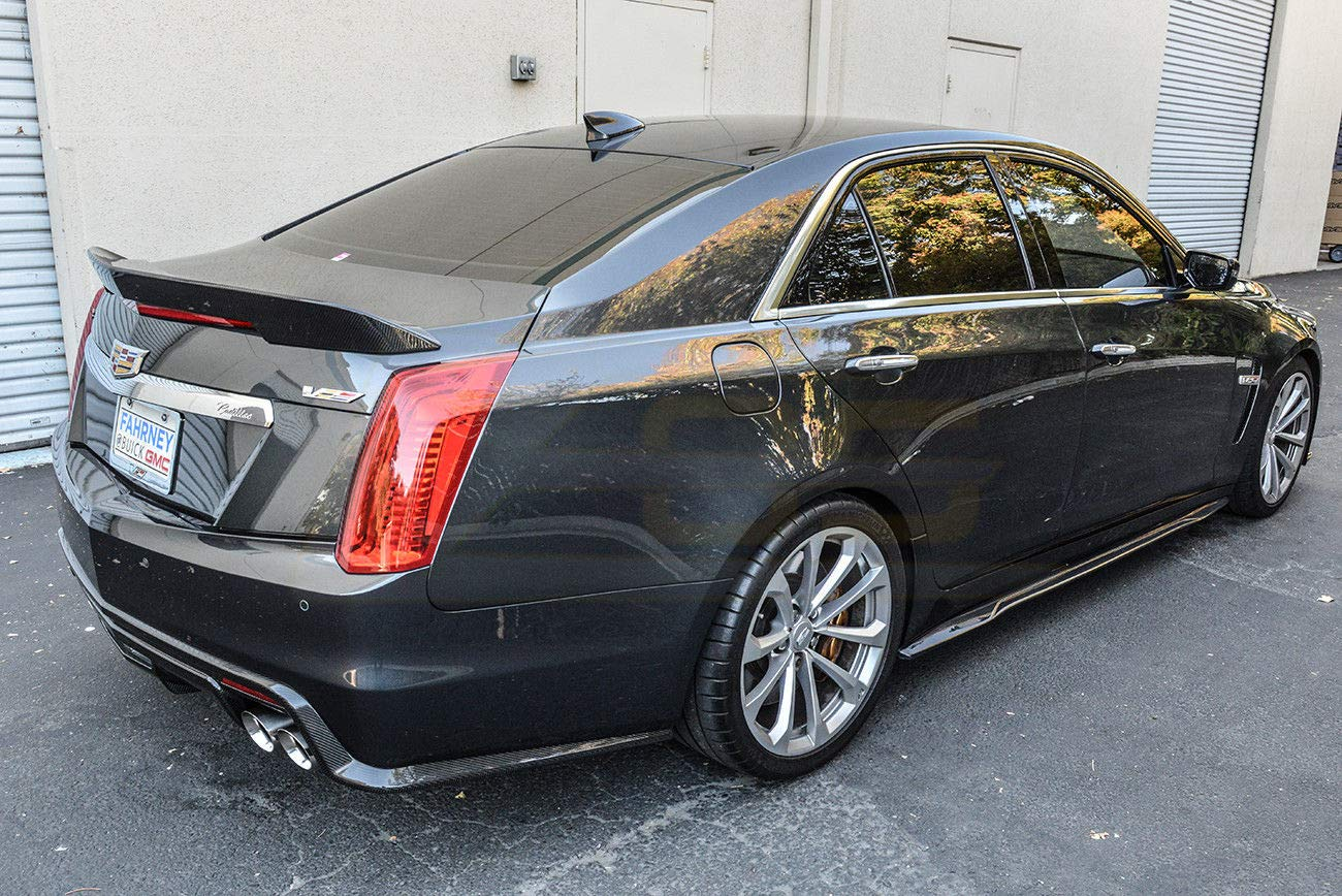 for 2016-Present Cadillac CTS-V Extreme Online Store Imperfect EOS Carbon Package Style Rear Bumper Carbon Fiber Trunk Lid Spoiler Wing Lip