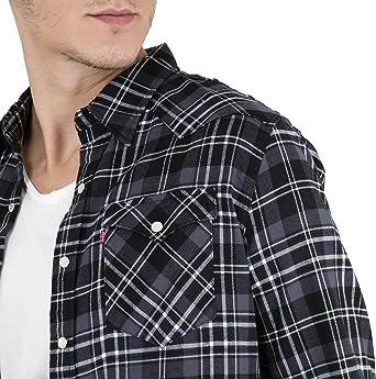 Levis Barstow Western - Camisa de carbón para Hombre Gris Oscuro XXL: Amazon.es: Ropa y accesorios