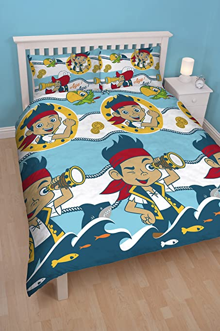 CARTOON CHARACTER JAKE NEVER LAND REVERSIBLE POLYESTER SINGLE DUVET QUILT COVER