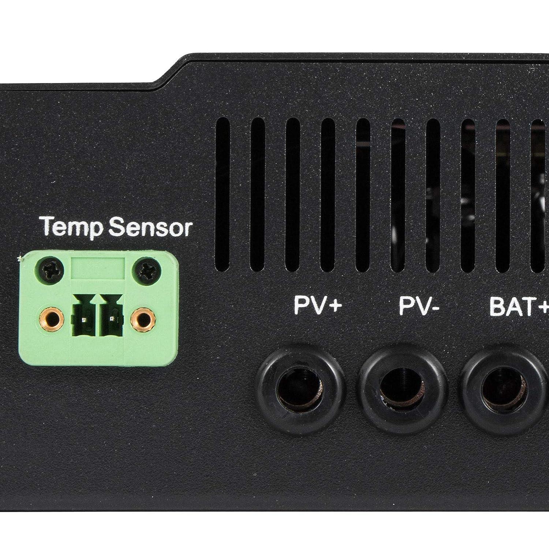 40A Summile 40A MPPT Solar Charge Controller 12V//24V//36V//48V Solar Panel Charge Regulator with LCD Display for Lead-Acid Sealed Gel AGM MAX 150VDC Off-Grid High Efficient