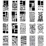 プラスチック プランナー ステンシル ジャーナル ノートブック 日記 スクラップブック DIY 図面テンプレート 20枚