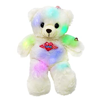 Amazon Com Wewill Led Teddy Bear Glow Stuffed Animals Colorful