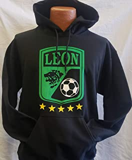 New! Club Deportivo Leon Black Hoodie Size L