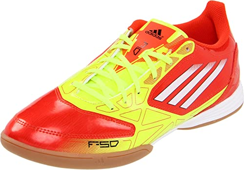 the latest e33c0 b9b2e adidas Men s F10 In Indoor Soccer Shoe,High Energy White Electricity,7.5