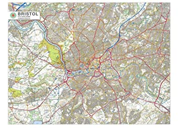 Map Of Uk Bristol.Bristol City Map 1000 Piece Jigsaw Puzzle