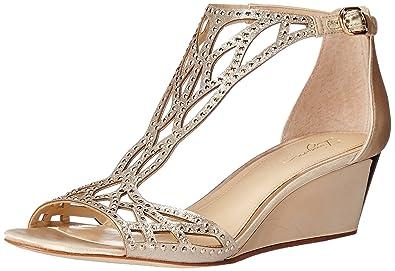 2adbe7bc6aa Imagine Vince Camuto Women s Jalen Wedge Sandal Soft Gold 5.5 Medium US