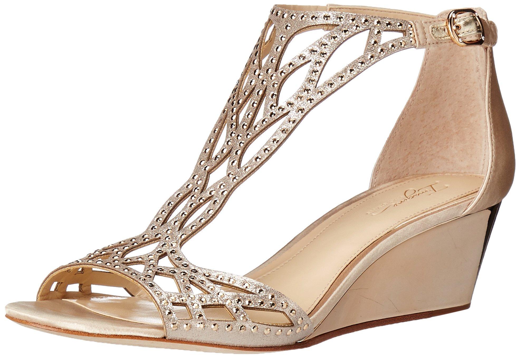 Imagine Vince Camuto Women's Jalen Wedge Sandal, Soft Gold, 10 Medium US