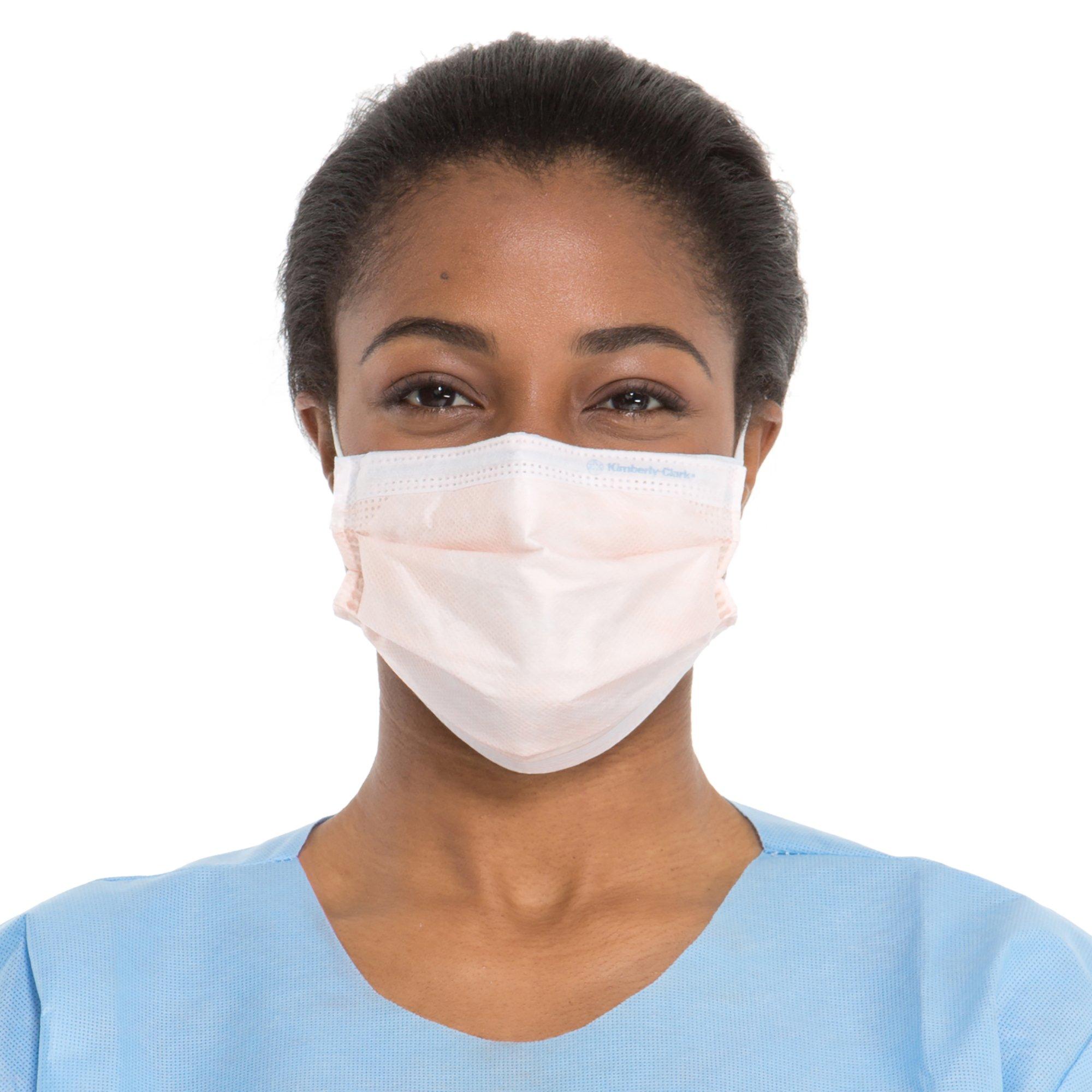 Kimberly-Clark Fluidshield Procedure Face Mask (47107), Level 3 Fluid Protection, Ear Loops, Breathable, Orange, 40 / Box by Kimberly-Clark