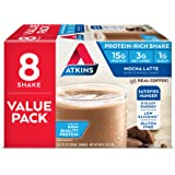 Atkins Ready to Drink Protein-Rich Shake, Mocha Latte, 8 Count