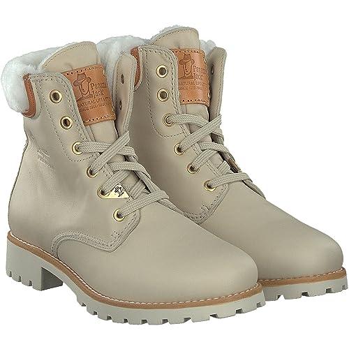 save off 09922 b113c Panama Jack Panama 03 Wool Damen Warm gefüttert Biker Boots Kurzschaft  Stiefel & Stiefeletten