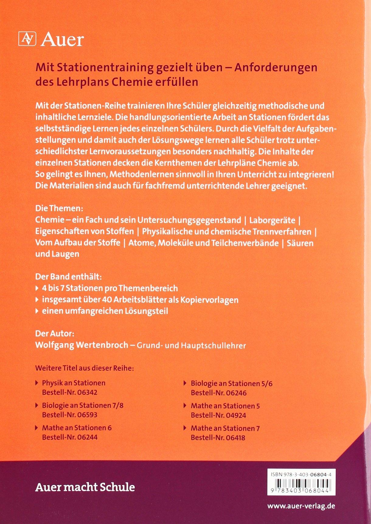 Chemie an Stationen: Übungsmaterial zu den Kernthemen des Lehrplans ...