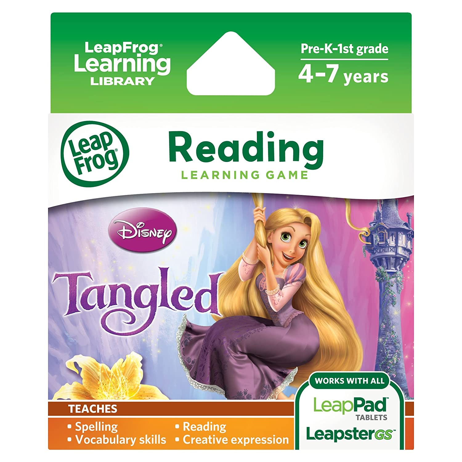 Amazon: Leapfrog Disney: Tangled Learning Game (for Leappad Tablets And  Leapstergs): Toys & Games