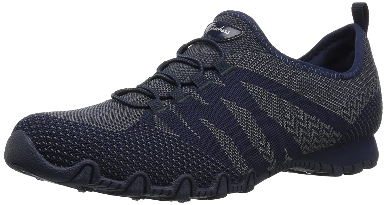 Skechers Women's Bikers-Knit Happens Sneaker B01NCK5DA8 10 B(M) US|Navy