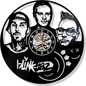 Levescale Blink 182 Vinyl Wall Clock Exclusive Music Design for Boy Or Man - Decoration for Living Room, Club - Rock Band - Duck Tape - MCA Records