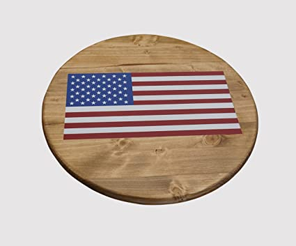 Amazon.com - KR Ideas Standard Lazy Susan, American Flag Design ...