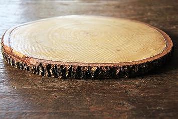 """Tamarind Thai tamaño 8 """" – 9"""" Madera rebanadas para mesa – árbol Tronco"""