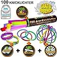 """100 Knicklichter 7-FARBMIX, Testnote: 1,4""""SEHR GUT"""", Komplett-Set inkl. 100x TopFlex-, 2x Dreifach- und 2x Ball-Verbindern"""