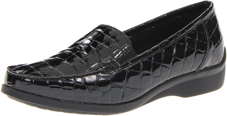 Aravon Women's Whitney Slip-On B007CNALDE 8.5 2A(N) US|Black Croc