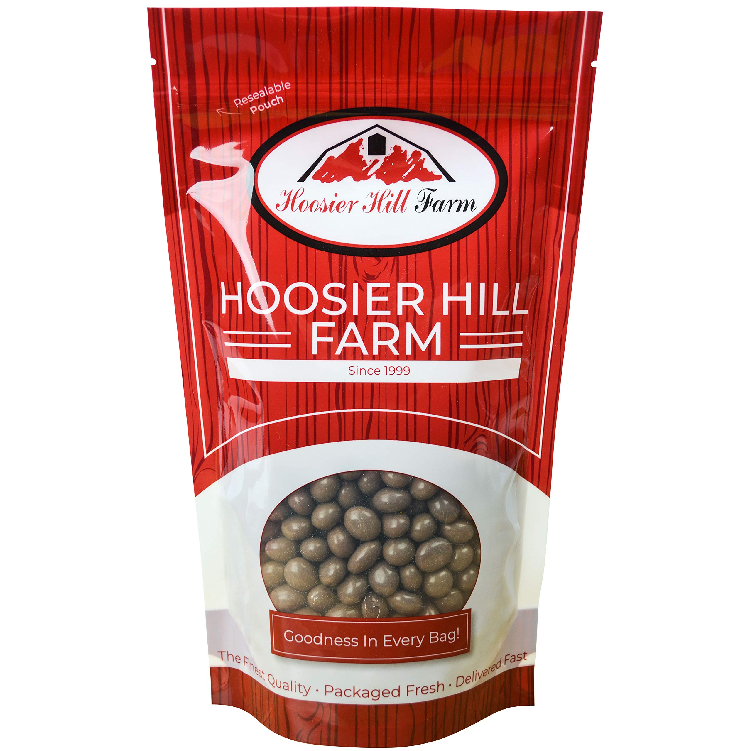 Gourmet Milk Chocolate covered Espresso Beans, Hoosier Hill Farm (2 lb Bag) by Hoosier Hill Farm