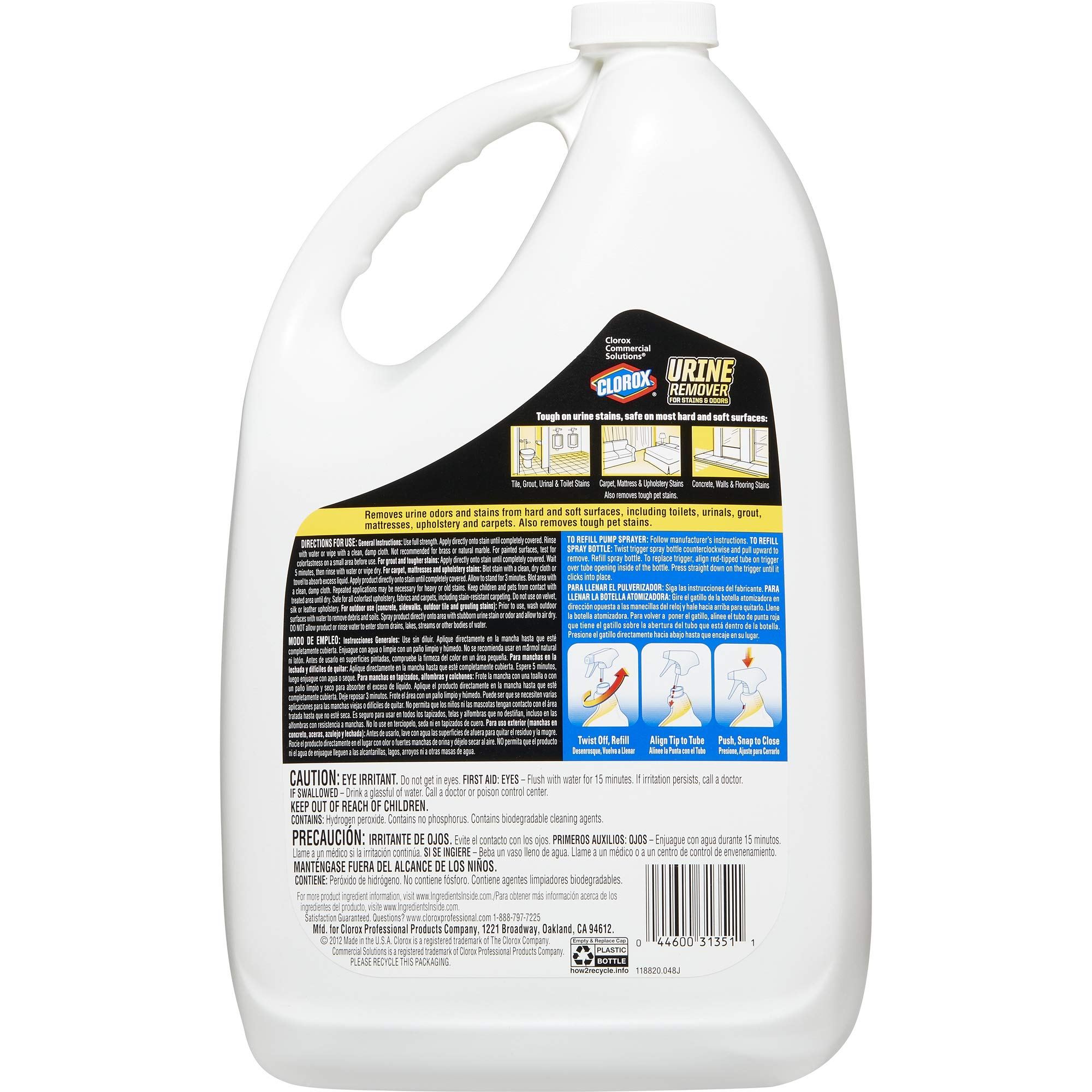 Clorox Commercial Solutions Urine Remover For Stains And