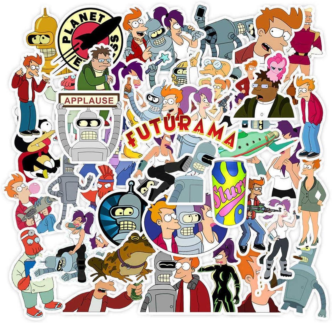 Turanga Leel Futurama Stickers Aloa Mars Philip J. Fry Sticker for Kids Laptop Skateboard Toy Stickers (Futurama)