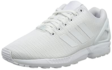 separation shoes ffedd df982 adidas Zx Flux, Unisex Adults Low-Top Sneakers, White (FTWR White