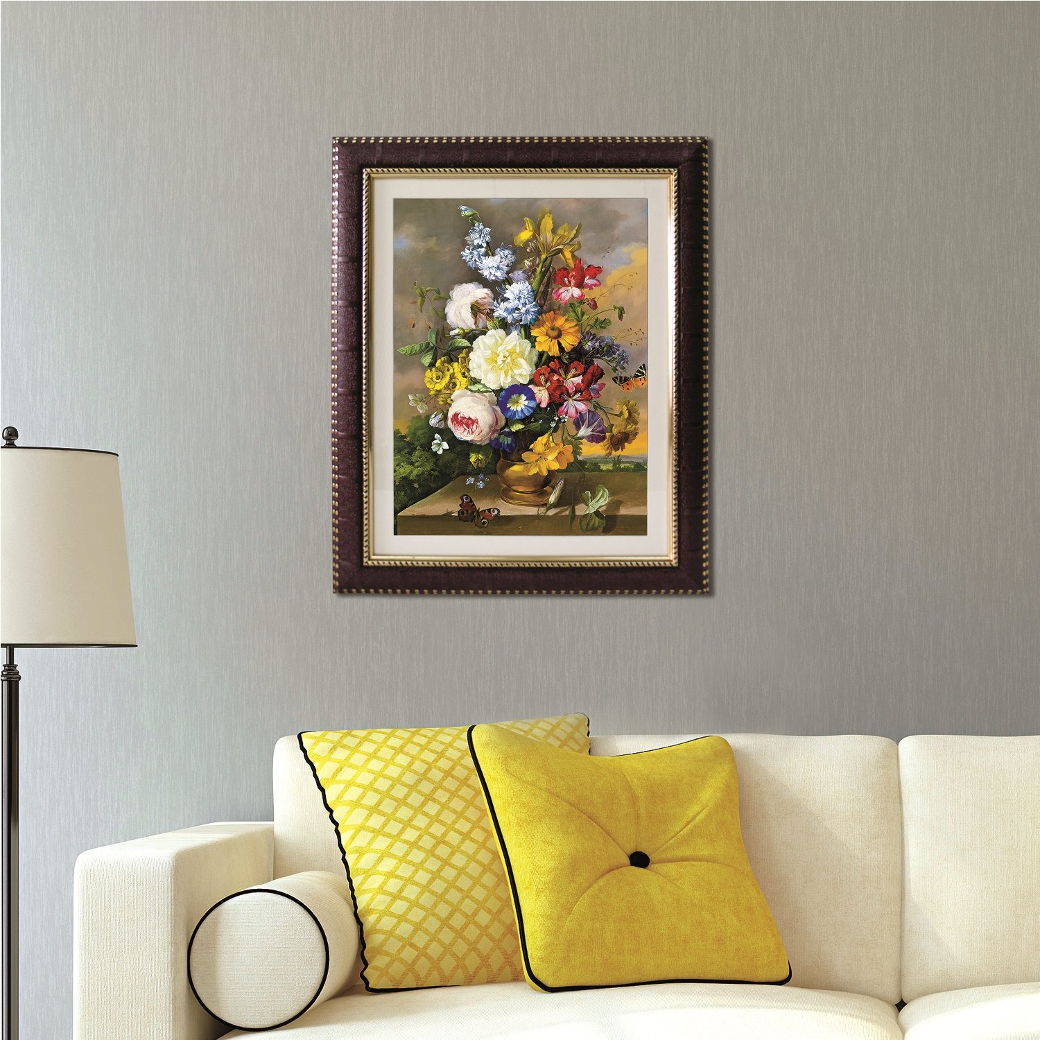Art Tantra Vintage Flower Painting Ready To Hang With Decorative