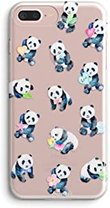 iPhone 6 Case,iPhone 6s Case,Women Pink Panda Baby Cute Funny Animal Cartoon Amusing Whimsical Adorable Design Clear Soft Protective Case Compatible for iPhone 6/iPhone 6s