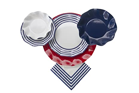 Sophistiplate Disposable Paper Plate Set Classic Navy for 10 Guests 70 Pieces Includes  sc 1 st  Amazon.com & Amazon.com: Sophistiplate Disposable Paper Plate Set Classic Navy ...