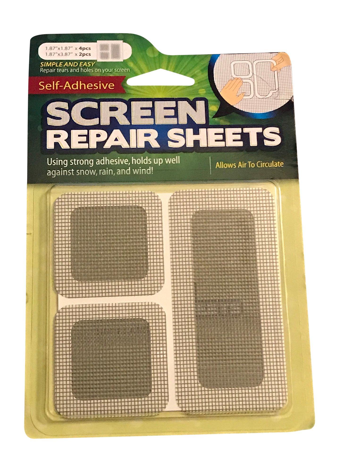 Self Adhesive Window and Door Screen Repair Sheets (Gray)