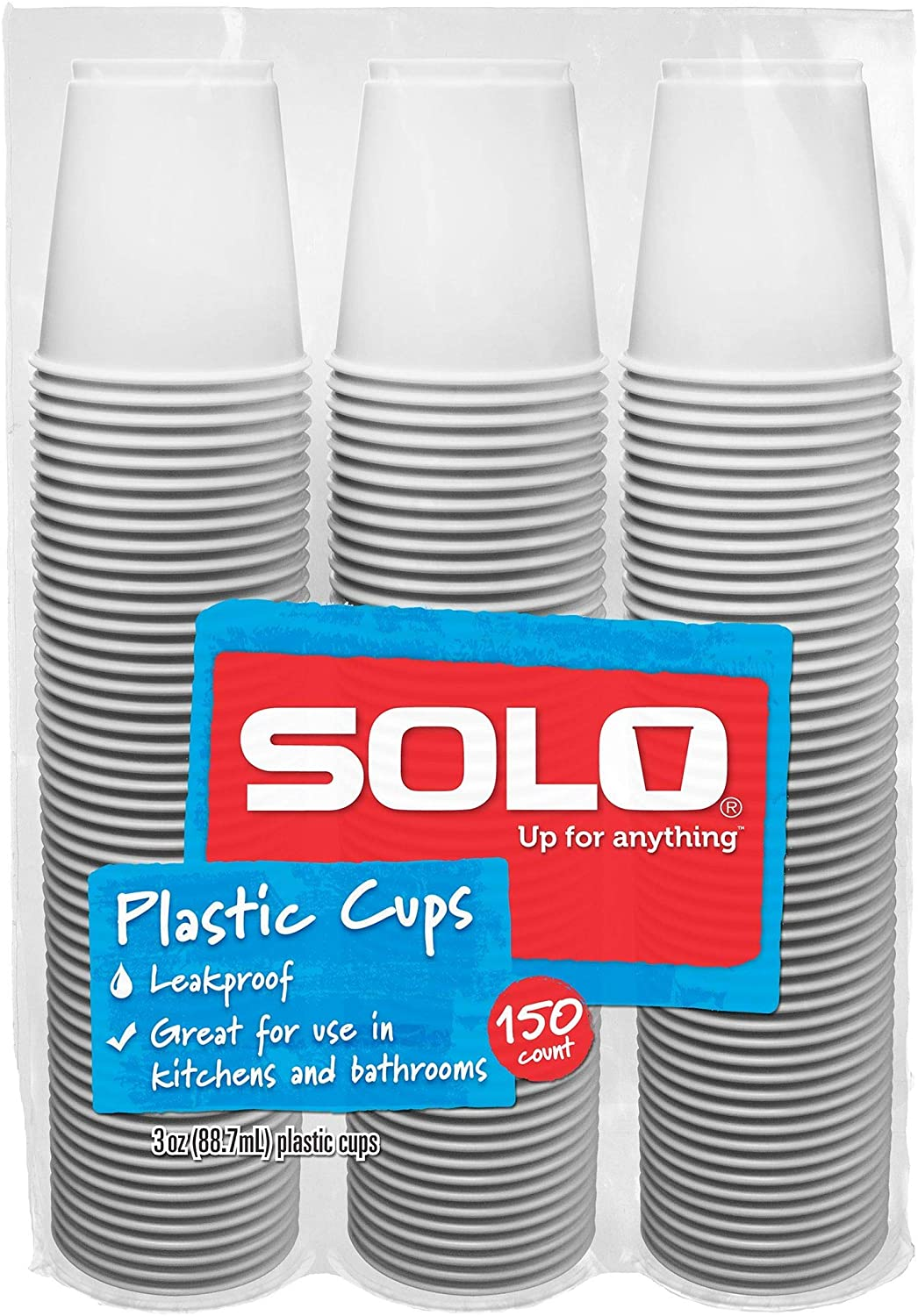 Solo Cup Plastic Bath Refill Cups, White, 3 Ounce, 600 Count
