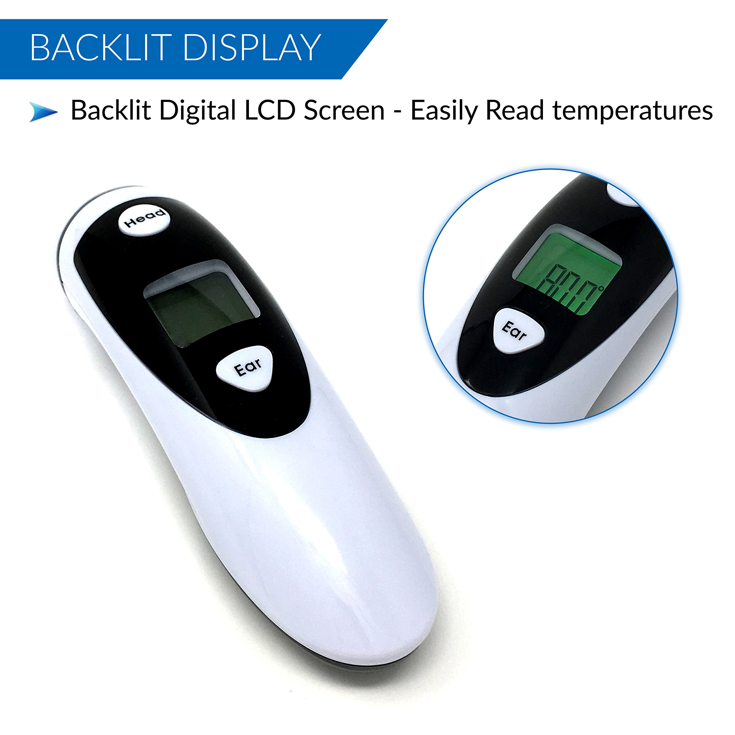 Champion IR - Medical Ear Thermometer With Forehead Function - Infared Technology & LCD Screen For Improved Accuracy by Champion IR (Image #4)