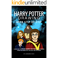 Harry Potter Drawing Book Step-by-Step: Learn How to Draw Harry Potter and His Friends from the Series with the Easy and Fun Guide