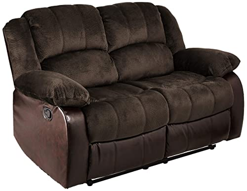 NHI Express Aiden Champion PU Motion Loveseat 2 reclining seats , Brown