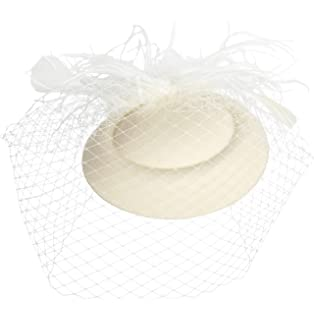 373a3047aa1 Zivyes Fascinators Hats 50s Hat Pillbox Hat Tea Party Headwear with Veil for  Girls and Women