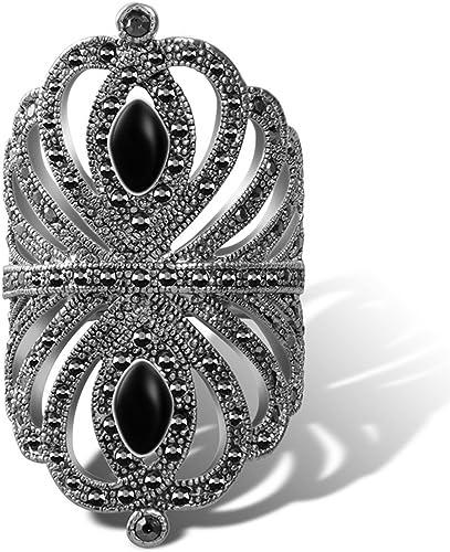 Dudee Ladies Jewelry Big Vintage Bohemian Ring With Cubic Zirconia