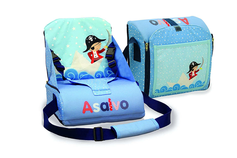 Asalvo 14023 - Trona de viaje, diseñ o barquito de papel, color azul diseño barquito de papel Asalvo_14023