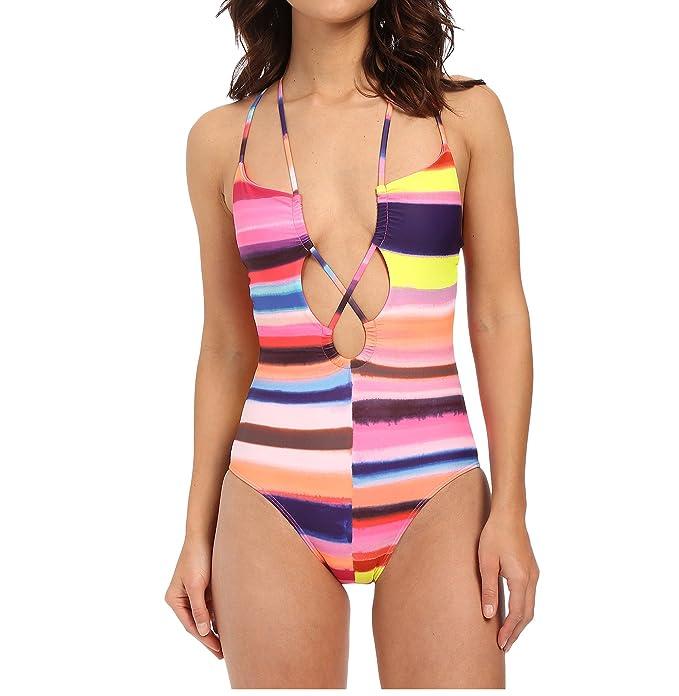 7d5e04b27903 YAMEE Damen Badeanzug Bauchweg Push up Einteiler Slim Bademode  Figuroptimizer Schwimmanzug (S)
