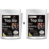 Levins King ® Hair Building Fiber, Hair concealer Refill Pack Use For Caboki, Toppik, Looks 21 etc.Black Color 50 Gram Pack of 2