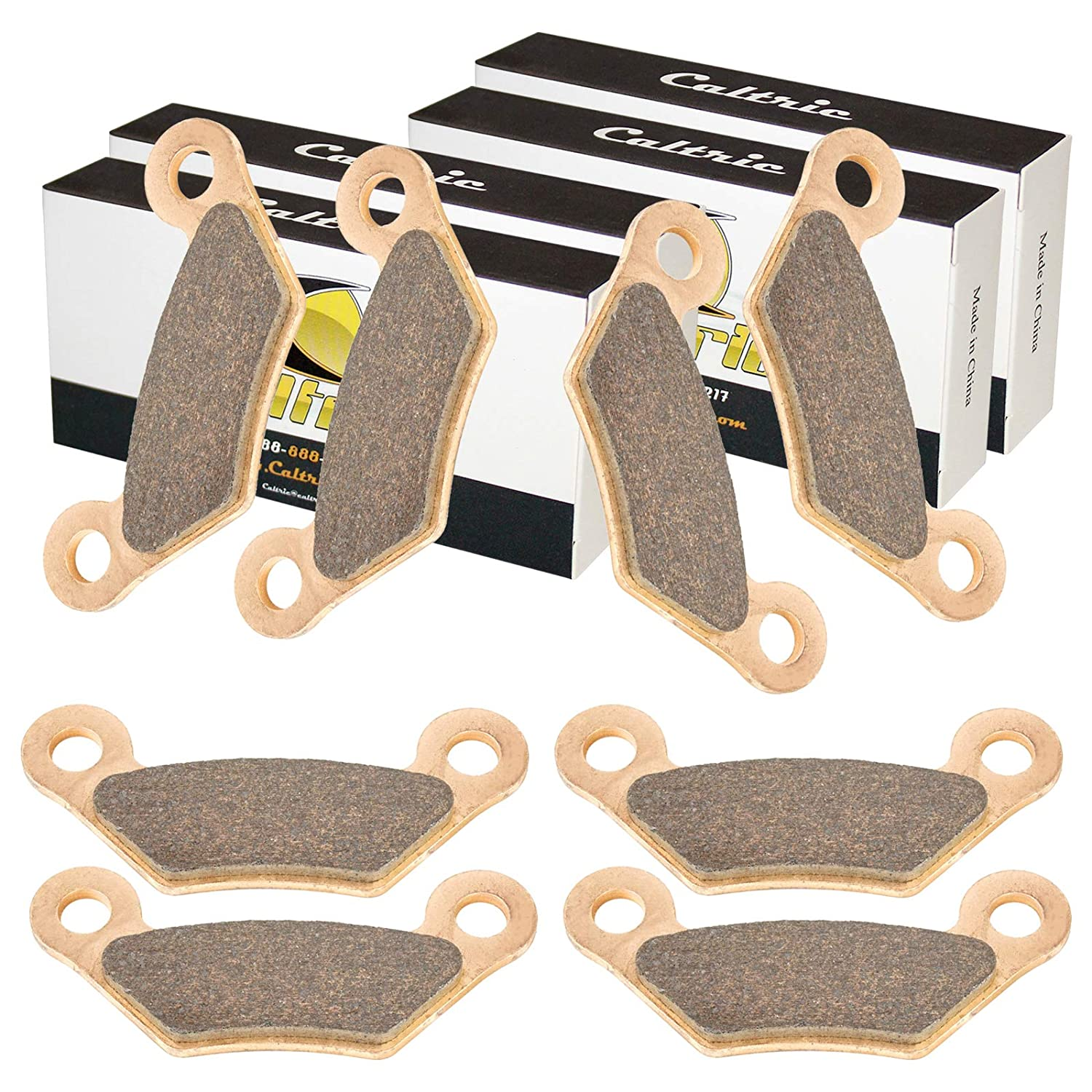 CALTRIC 4 FRONT and REAR BRAKE PADS FIT John Deere 4X2 4X4 Gator HPX Diesel after 090000