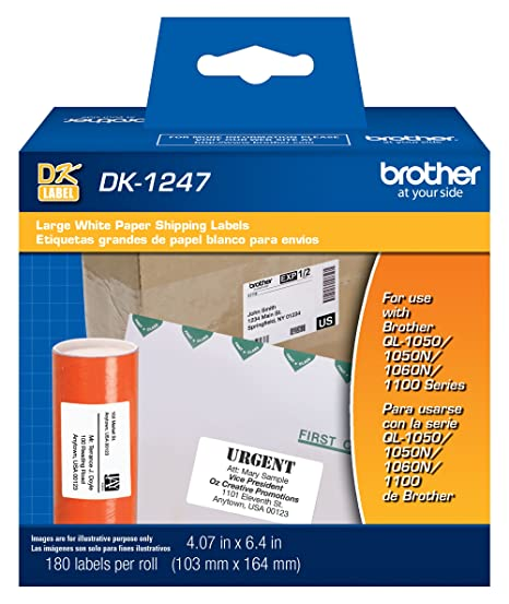 Amazoncom Brother Genuine Dk 1247 Die Cut Large Shipping White