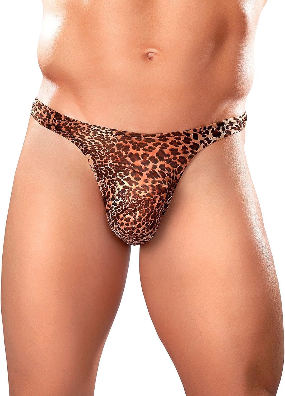 Male Men/'s Leopard Print Tarzan Brief Underwear Shorts Underpants Tank Top Vest