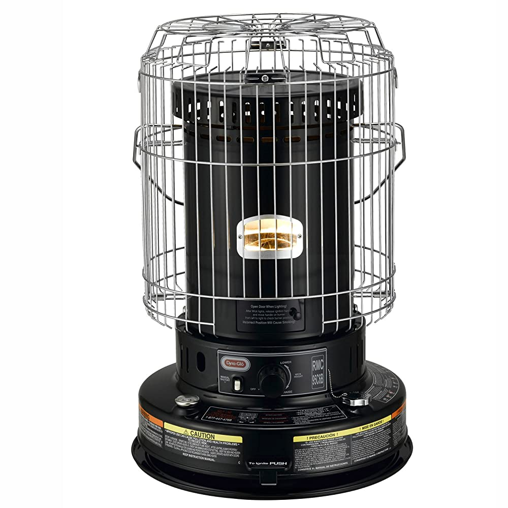 Dyna-Glo RMC-95C6B Indoor Kerosene Convection Heater, 23000 BTU, Black Review