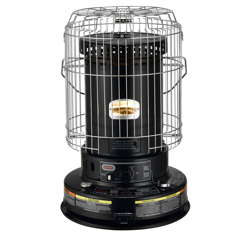 Dyna-Glo RMC-95C6B Indoor Kerosene Convection Heater, 23000 BTU, Black