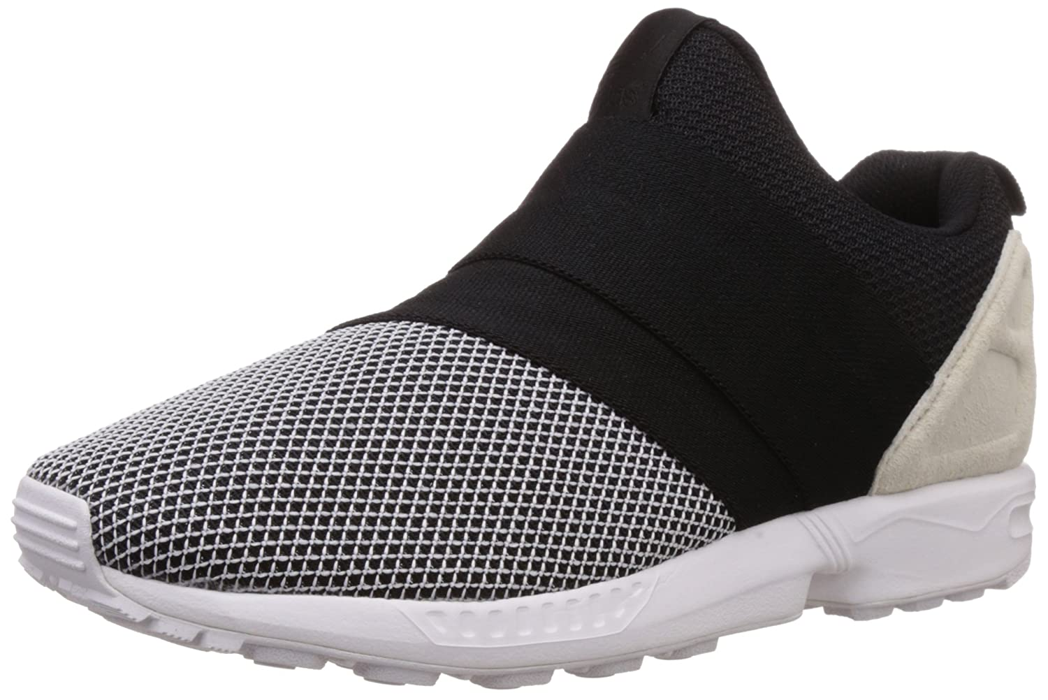 Adidas ZX Flux Slip On White / black / Off White Denim and Cloth