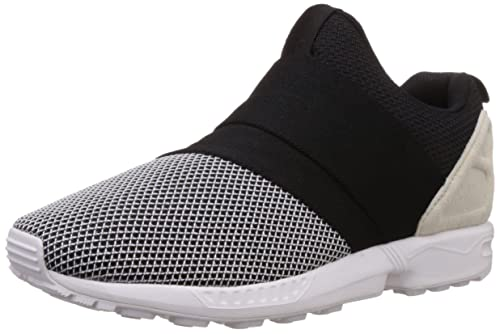 new styles eaeb7 53013 adidas Originals Men s Zx Flux Slip On White, Black and Grey Leather  Loafers and Mocassins