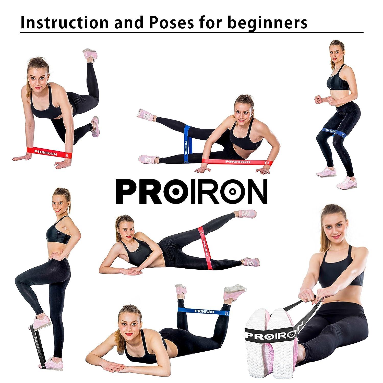 PROIRON Bandas Elásticas Bandas de Resistencia Fitness para Entrenar Piernas Glúteos Yoga Pilates Crossfit Fuerza para Hombre Mujeres Conjunto de 5: ...