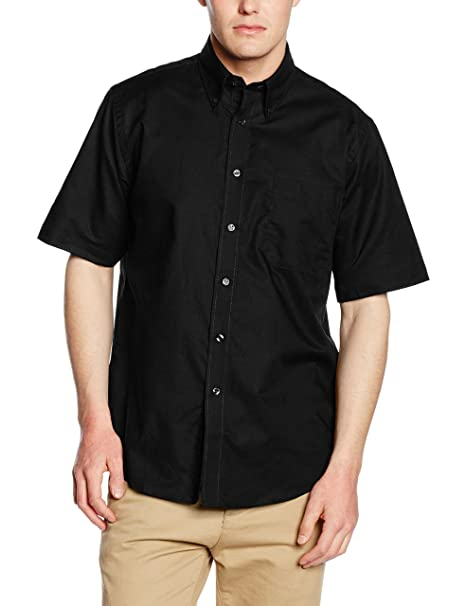 1c3822b2375 New Fruit Of The Loom Button-down Collar Oxford Short Sleeve Shirt Size S