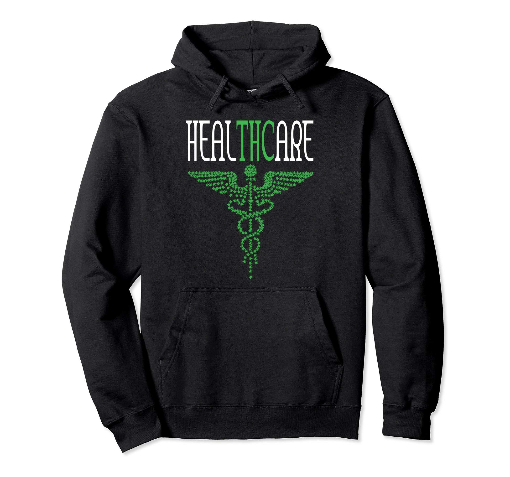 Funny Marijuana Hoodie Weed Pot Cannabis Hemp Healthcare THC