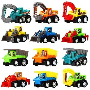 Amazon.com: Juego de 12 mini juegos de juguetes para camión ...